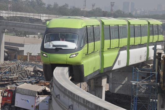 First commercial tests of India's first monorail system, the Mumbai Monorail - one of Scomi Rail's many international urban transportation projects